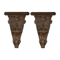 Uttermost Mora Shelves Set of 2 Home Accessory in Distressed Chestnut Brown 20613