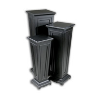 Uttermost Keir Plant Stands Set of 3 Home Accessory in Matte Black 20641