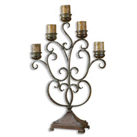 Uttermost Juliana Candelabra Home Accessory in Dark Red Rust And Olive Bronze 20808