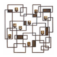 Uttermost Siam Candle Light Wall Sculpture Home Accessory in Rust Brown 20850