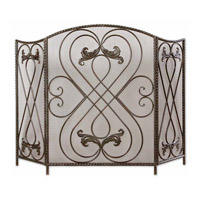 Uttermost Effie Fireplace Screen Home Accessory in Distressed Aged Black 20960