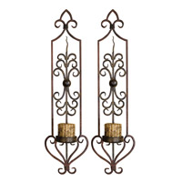 Uttermost Privas Wall Sconces Set of 2 Home Accessory in Mahogany Rust And Olive Bronze 20987