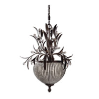 Uttermost Cristal De Lisbon 3-Lt Chandelier in Golden Bronze 21004