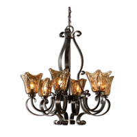 Uttermost 21006 Vetraio 6 Light 29 inch Oil Rubbed Bronze Chandelier Ceiling Light thumb