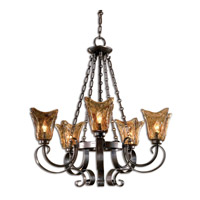Uttermost 21007 Vetraio 5 Light 29 inch Oil Rubbed Bronze Chandelier Ceiling Light