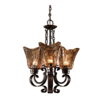 Uttermost 21008 Vetraio 3 Light 16 inch Oil Rubbed Bronze Chandelier Ceiling Light