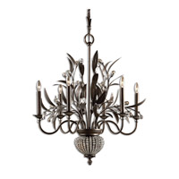 Uttermost 21017 Cristal De Lisbon 6 Light 27 inch Golden Bronze Chandelier Ceiling Light