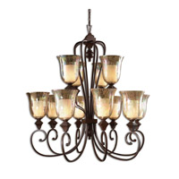 Uttermost Elba 12-Lt Chandelier in Spice 21048