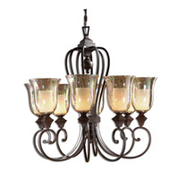 Uttermost Elba 8-Lt Chandelier in Spice 21049 photo thumbnail