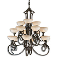 Uttermost Legato 15 Lt Chandelier in Distressed Chestnut Brown 21082