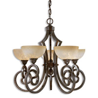 Uttermost Legato 5 Lt Chandelier in Distressed Chestnut Brown 21083