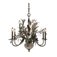 Uttermost 21094 Cristal De Lisbon 9 Light 32 inch Golden Bronze Chandelier Ceiling Light
