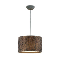 Uttermost Knotted Rattan Hanging Shade in Hand Rubbed Espresso 21103