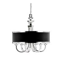 Uttermost Tuxedo 6-Lt Single Shade Chandelier in Silver Plated 21130