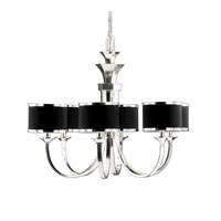 Uttermost Tuxedo 6-Lt Chandelier in Silver Plated 21131