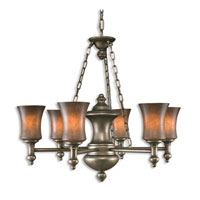 Uttermost Silvio 6 Lt Chandelier in Antiqued Silver 21196 thumb