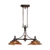 Vitalia 2 Light 42 inch Oil Rubbed Bronze Kitchen Island Ceiling Light