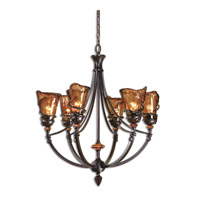 Uttermost 21227 Vitalia 6 Light 29 inch Oil Rubbed Bronze Chandelier Ceiling Light
