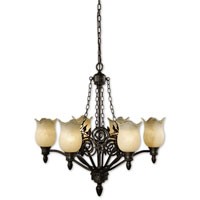 Uttermost Toulouse 6 Lt Chandelier in Heavily Burnished Wash 21230 thumb
