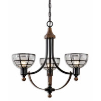 Uttermost Gelati 3 Lt Chandelier in Lightly Antiqued Hammered Copper 21231 photo thumbnail