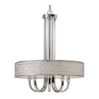 Uttermost Brandon 5 Lt Single Shade Chandelier in Nickel Plated 21233