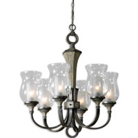 Uttermost Gilman 6 Light Chandelier in Aged Ivory and Antique Silver 21239 photo thumbnail