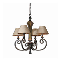 Uttermost Porano 4 Light Chandelier in Oil Rubbed Bronze 21241 thumb