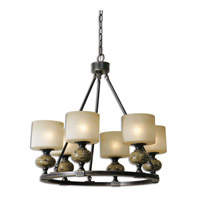 Uttermost Porano 6 Light Chandelier in Oil Rubbed Bronze 21242