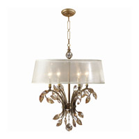 Uttermost Alenya 4 Light Chandelier in Burnished Gold 21245