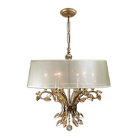 Uttermost Alenya 6 Light Chandelier in Burnished Gold 21246