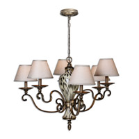 Uttermost Malawi Chandelier in Burnished Cheetah Print 21247