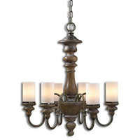 Uttermost Torreano Chandelier in Aged Pecan 21251