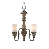 Torreano 3 Light 18 inch Aged Pecan Chandelier Ceiling Light