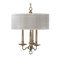 Uttermost Santina Chandelier in Antiqued Brushed Brass 21253