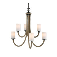 Uttermost Gironico Chandelier in Lightly Stained Rope 21254