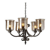 Uttermost Lustre 5 Light Chandelier in Dark Bronze 21257