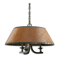 Uttermost Tundra 3 Light Chandelier in Rustic 21258