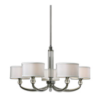Uttermost Vanalen 5 Light Chandelier in Chrome 21260