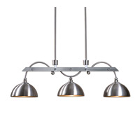Uttermost Malcolm 3 Light Island Light in Satin Nickel 21265
