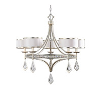 Tamworth 5 Light 34 inch Light Silver Chandelier Ceiling Light