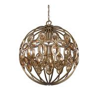 Uttermost 21269 Ambre 8 Light 25 inch Light Gold Chandelier Ceiling Light