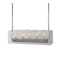 Uttermost Cheminee 5 Light Chandelier in Brushed Steel 21270