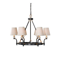 Uttermost Circolo 6 Light Chandelier in Dark Oil Rubbed Bronze 21275
