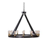 Marlow 12 Light 40 inch Dark Antique Bronze, Weathered Bronze Chandelier Ceiling Light