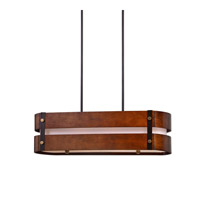 Milford 4 Light 35 inch Chestnut Chandelier Ceiling Light