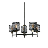 ThinAlita 5 Light 31 inch Dark Weathered Bronze Chandelier Ceiling Light