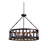 Uttermost Mandrino 4 Light Chandelier in Metallic Drip Glaze 21287