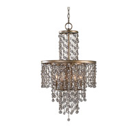 Uttermost Valka 6 Light Chandelier in Silver Swedish Iron 21288