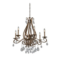 Siobhan 6 Light 28 inch Argento Chandelier Ceiling Light