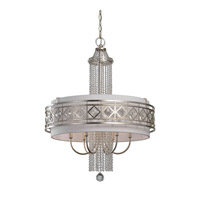 Uttermost Tamela 6 Light Chandelier in Silver Leaf 21293